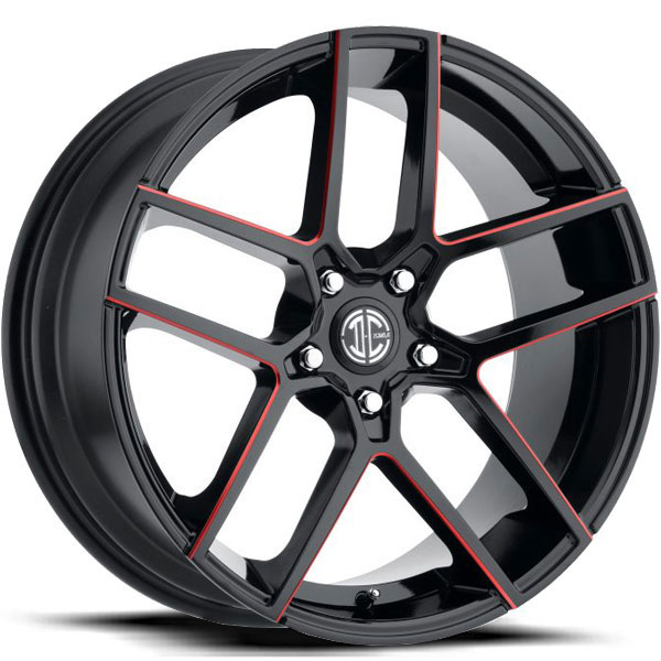 2 Crave No.54 Gloss Black with Red Milled Spokes