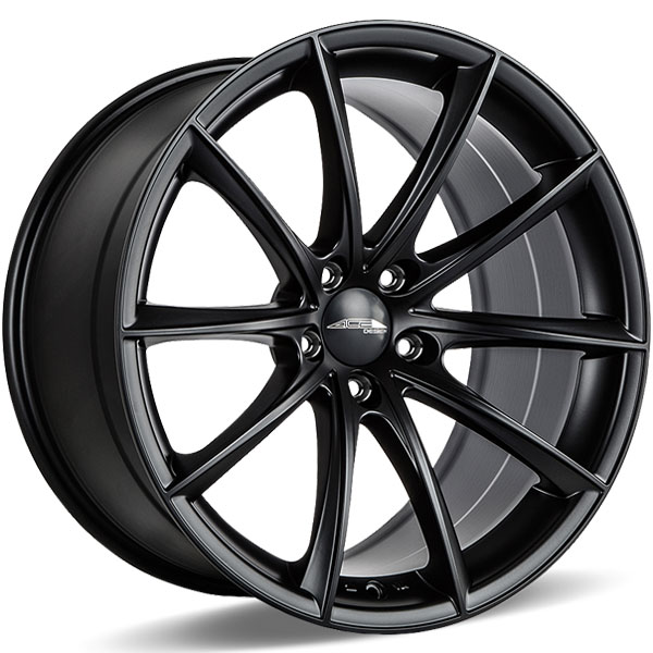 Ace Alloy Convex D704 Matte Black