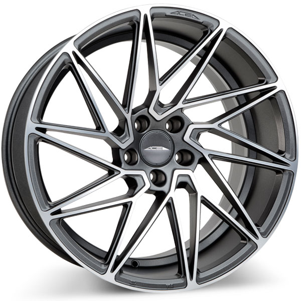Ace Alloy Driven D716 Matte Mica Grey with Machined Face