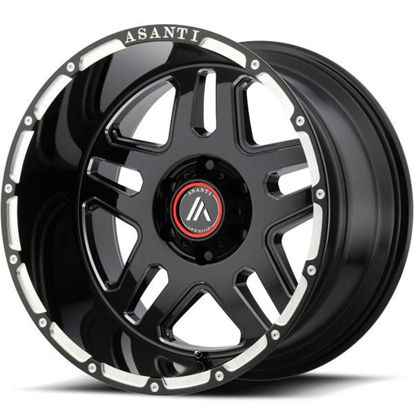 Asanti Off-Road AB-809 Gloss Black Milled