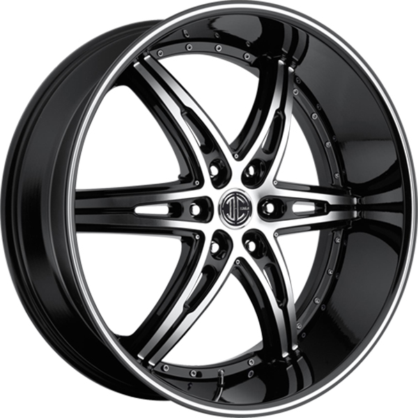 Black Diamond No.16 Gloss Black with Machined Face and Stripe