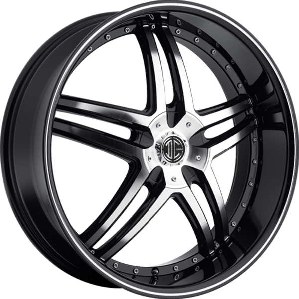 Black Diamond No.17 Gloss Black with Machined Face and Stripe