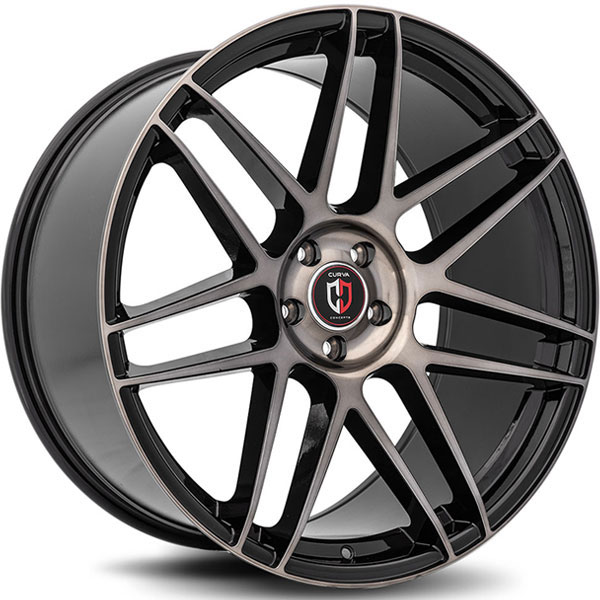 Curva Concepts C300 Gloss Black with Machined Face and Tint