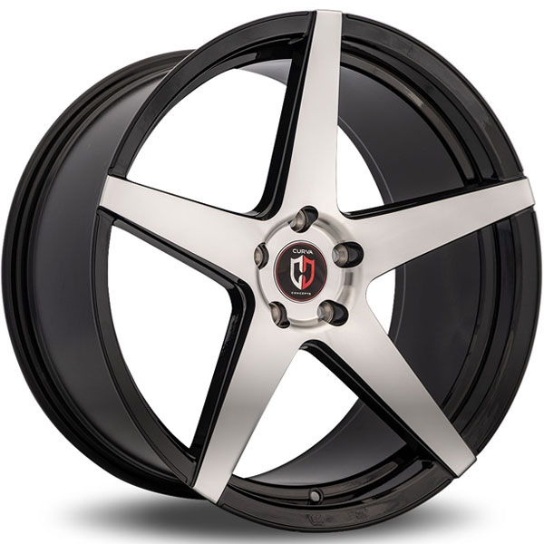 Curva Concepts C55 Black with Machined Face