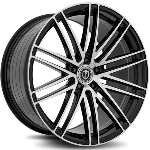 Curva Concepts CFF50 Gloss Black with Machined Face