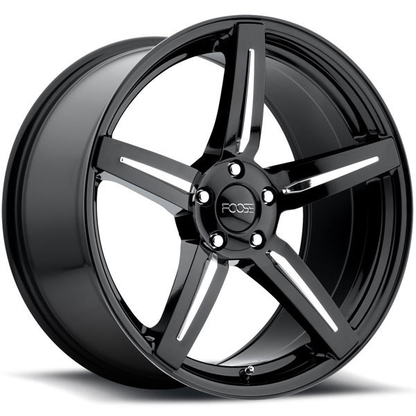 Foose Enforcer F154 Gloss Black with Chrome Inserts