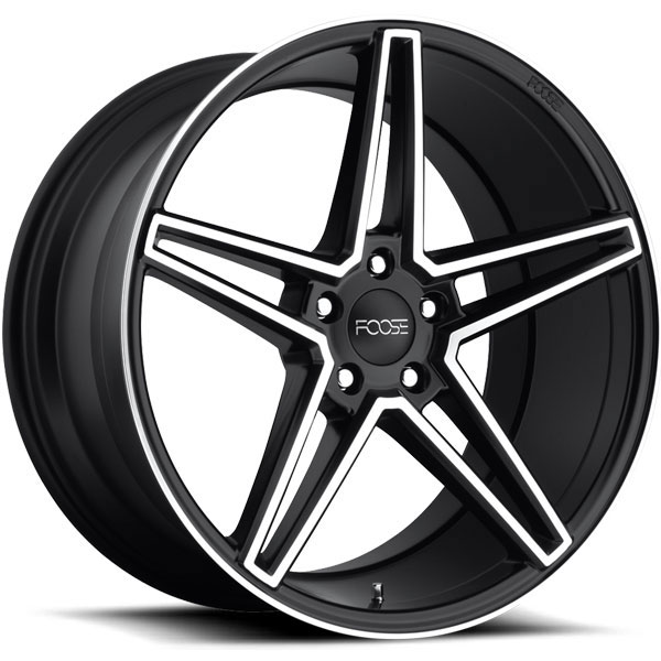 Foose Voss F164 Black with Machined Face