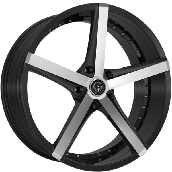 Gima Element 5 Black with Machined Face