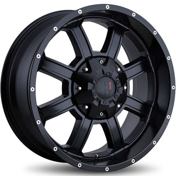 Havok Off-Road H101 Matte Black with Milled Rivets