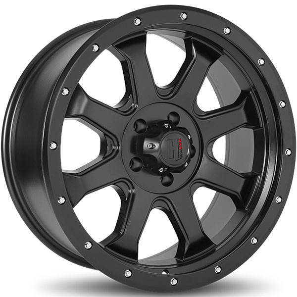 Havok Off-Road H105 Matte Black with Milled Rivets