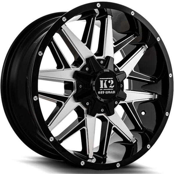 K2 OffRoad K15 Mayhem Gloss Black with Machined Milled Spokes