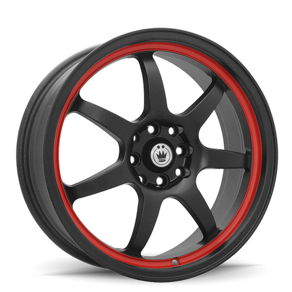 Konig Forward Matte Black with Red Stripe