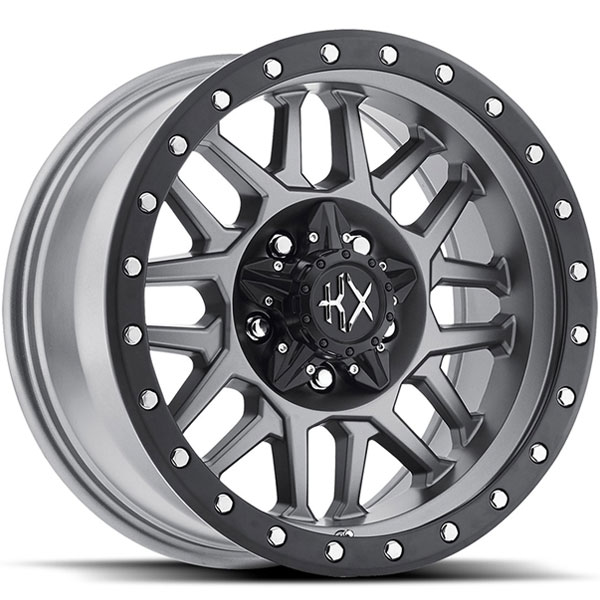 KX Offroad KX03 Matte Grey with Satin Black Ring