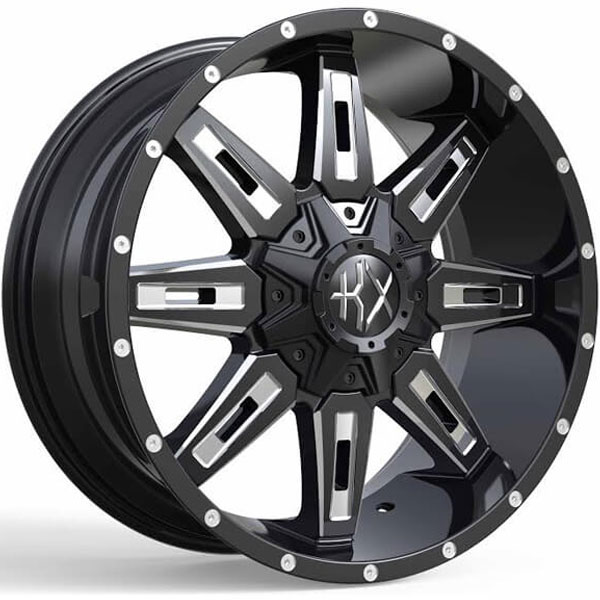 KX Offroad KX06 Gloss Black with Milled Spokes