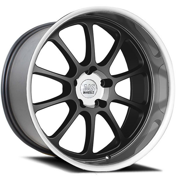 NS Series Drift-Ten Matte Black with Polished Lip