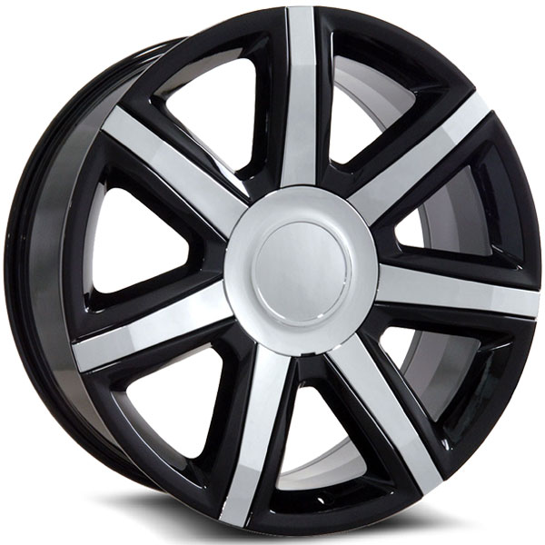OE Revolution D-05 Gloss Black with Chrome Inserts