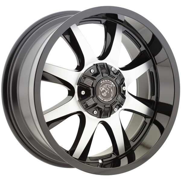 Panther Off-Road 578 Gloss Black Machined