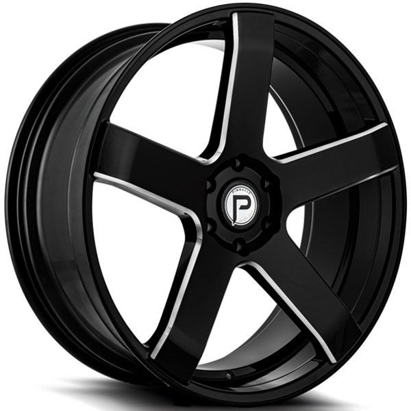 Pinnacle P102 Magnum Gloss Black with Milled Spokes