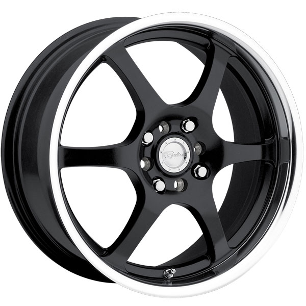 Raceline 126 Black with Machined Lip