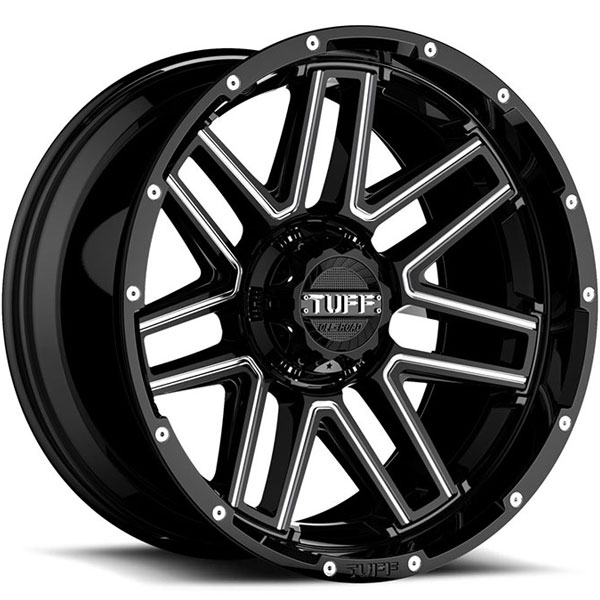 Tuff T17 Gloss Black with Milled Spokes