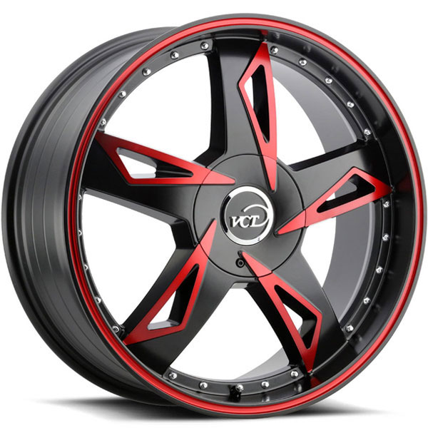 VCT V84 Satin Black with Machined Red Face