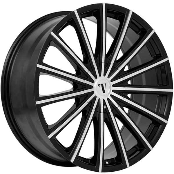 Velocity VW 10 Black with Machined Face