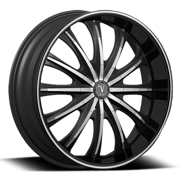 Velocity VW 15 Black with Machined Face and Black Lip