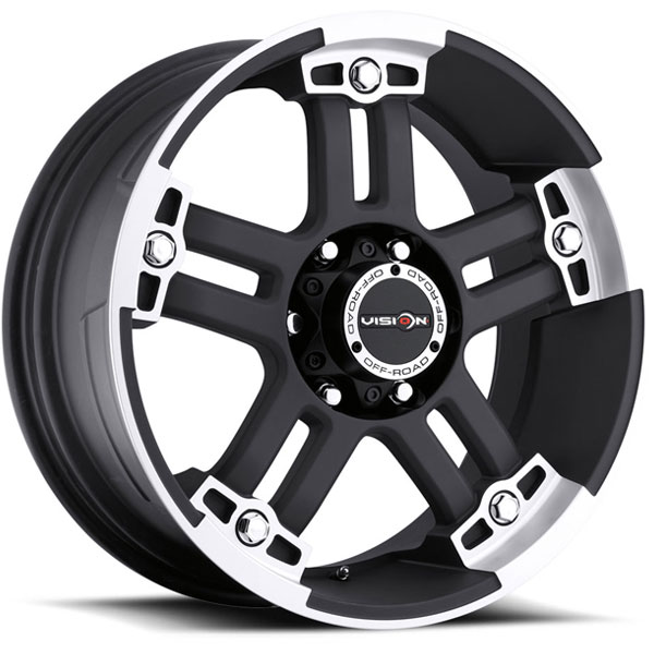 Vision 394 Warlord Matte Black with Machined Face