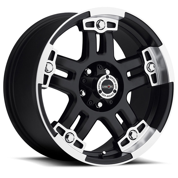 Vision Off-Road 394 Warlord Matte Black with Machined